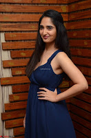 Radhika Mehrotra in a Deep neck Sleeveless Blue Dress at Mirchi Music Awards South 2017 ~  Exclusive Celebrities Galleries 049.jpg