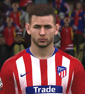 PES 2017 Faces Lucas Hernandez by ABW_FaceEdit