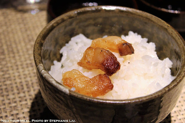 Crispy Beef Fat over Rice at Mouriya Honten in Kobe, Japan