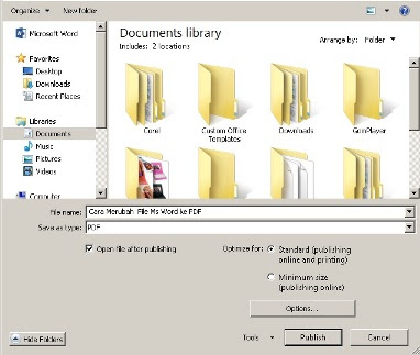 Cara Merubah File Ms Word ke PDF