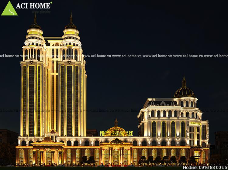 thiết kế khách sạn kiểu Pháp 5 sao tại Quảng Ninh
