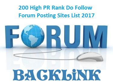 200 High PR Rank Do Follow Forum Posting Sites List 2017 | Pinoytut