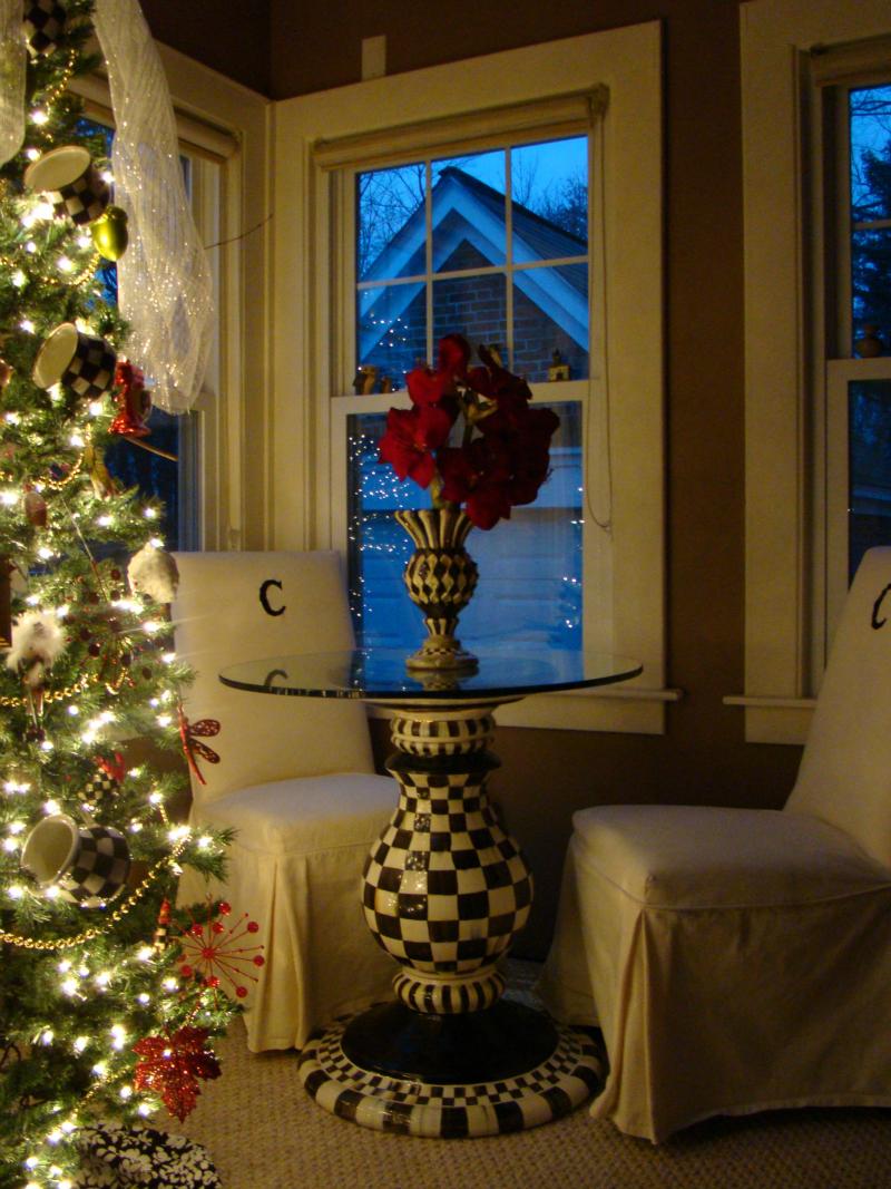 Mackenzie Childs Christmas.Mackenzie Childs Christmas Tree In The Sunroom Mountain