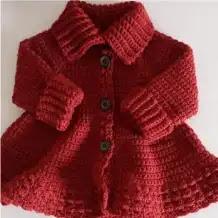Abrigo Niña a Crochet