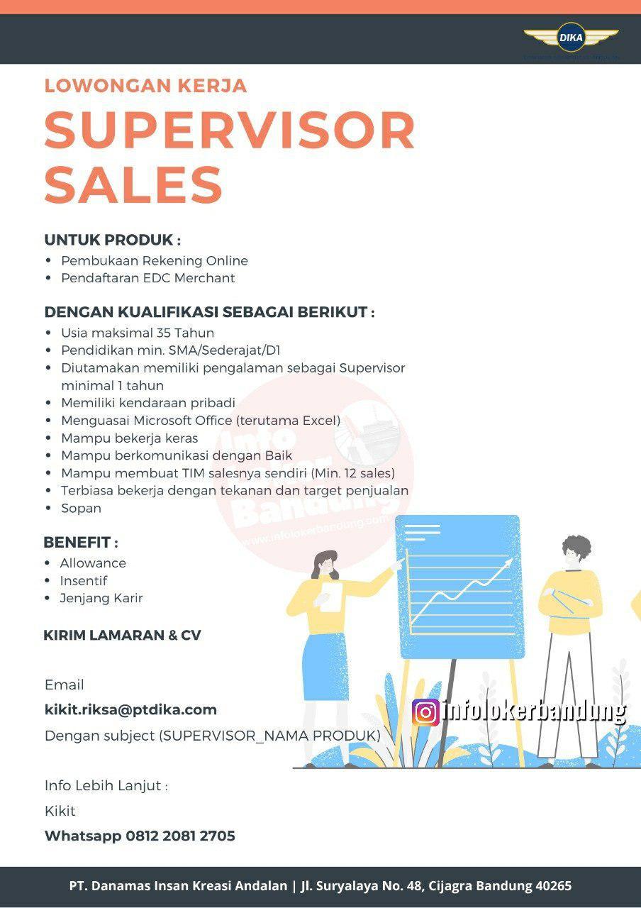 Lowongan Kerja PT.Danamas Insan Kreasi Andalan (PT.Dika) Bandung November 2019