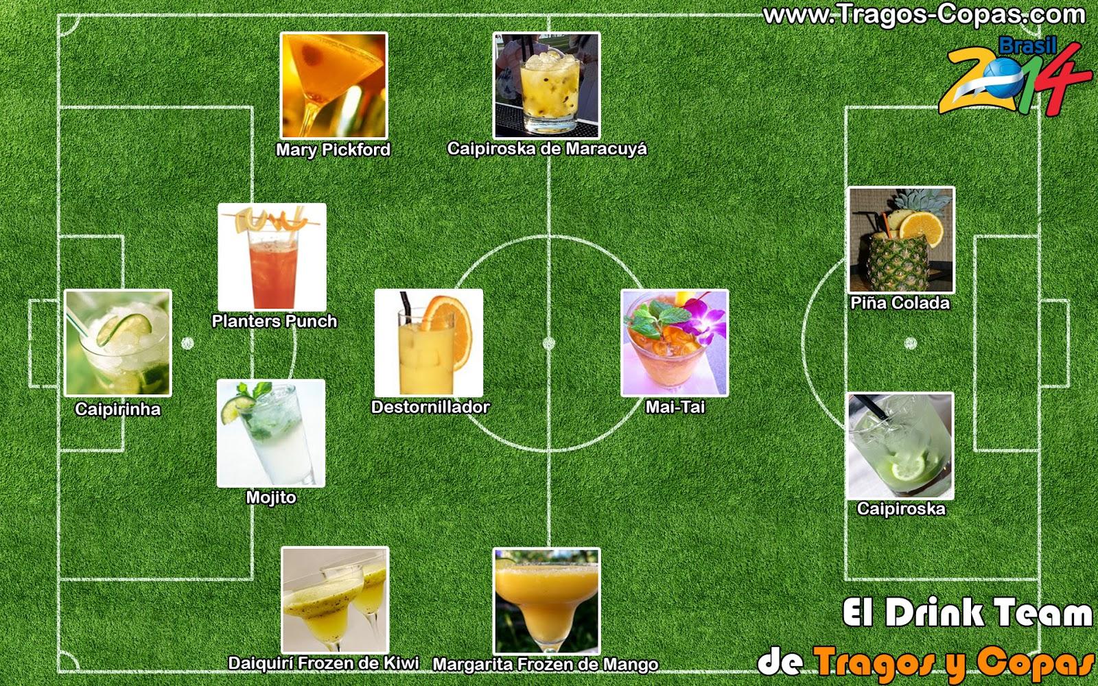 El Drink Team de Tragos y Copas : 11 Tragos para el Mundial Brasil 2014