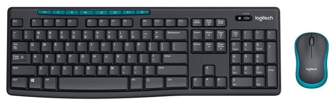 Logitech MK275 wireless keyboard and mouse combo.