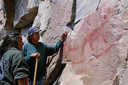 Medicine Painters Agawa Rock Mishibizhiw