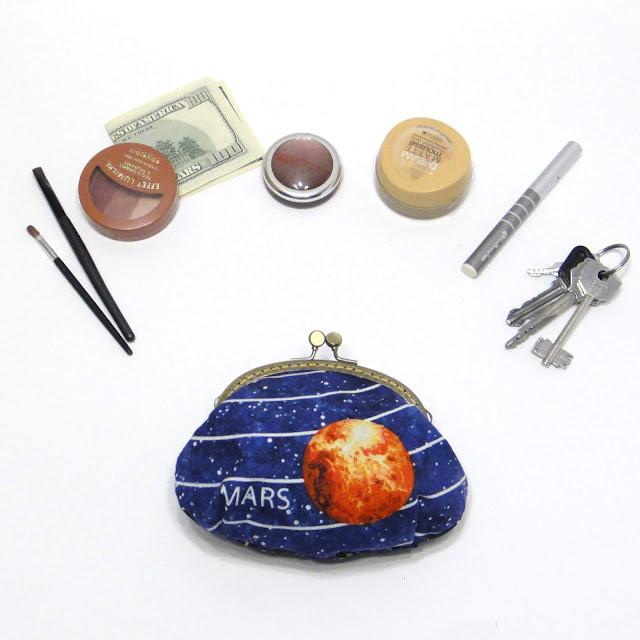 Кошелек с фермуаром или кошелек косметичка: натуральный хлопок, ручная работа. Доставка из Твери - курьер или почта