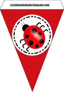 Ladybugs Free Printable Banner.