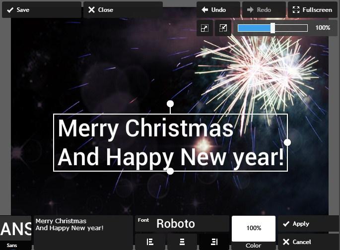 edit foto natal dan tahun baru online