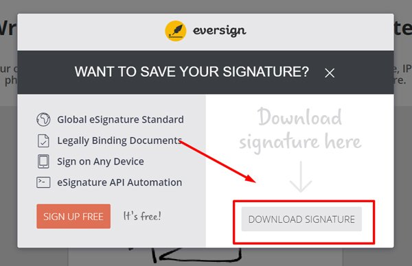 Download Signature