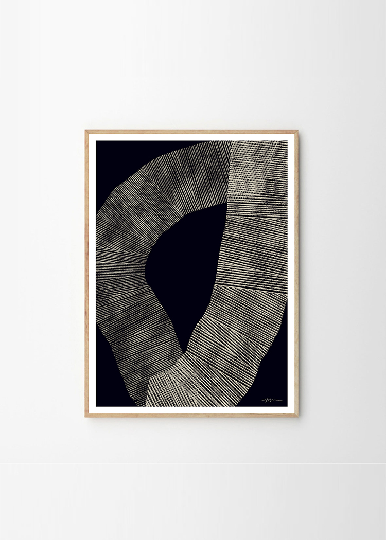 Abstract 696 Art Print by Studio Paradissi in exclusive collaboration with The Poster Club