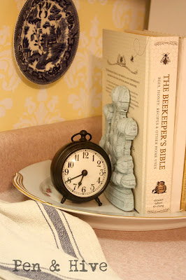 books and clock