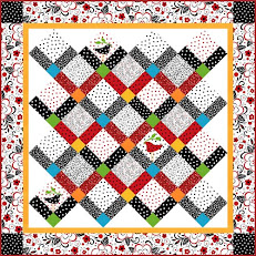Click to download our Thoroughly Modern Zig Zag free quilt pattern!