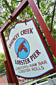 Langostas de Maine en Chauncey Creek Lobster Pier