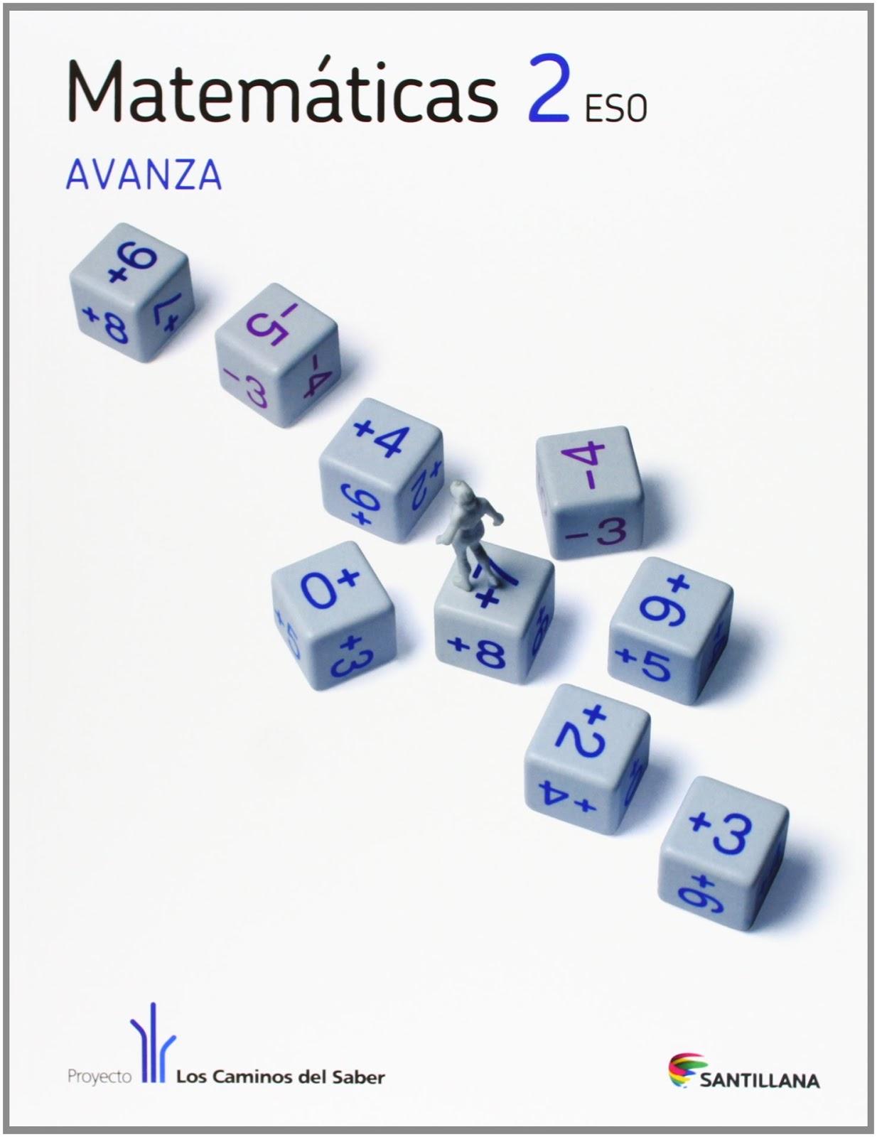 Libro Matemáticas 2º Eso Santillana Proyecto Los Caminos Del Saber Recursos1clic