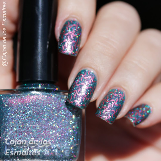 Estampado de uñas con diseños geométricos - Placa JQ-L01
