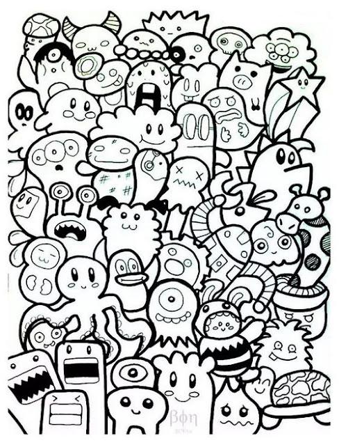 Gambar doodle mudah dibuat