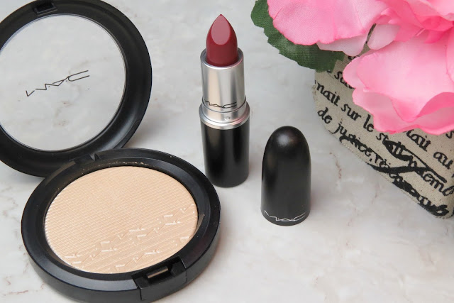 MAC D for Danger Lipstick Double-Gleam Extra Dimension Skinfinish Swatch Review