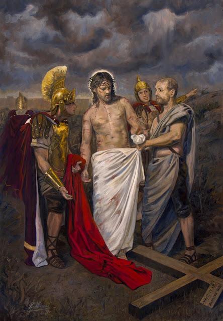 X Estação da Via-Sacra - Jesus é despojado das suas vestes