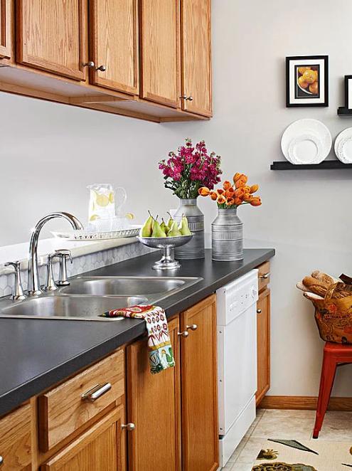 60+ White Kitchen Cabinets With Oak Trim - Domaci Design