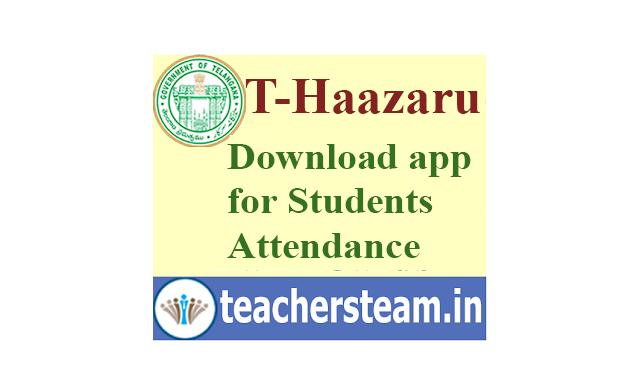DownlaodDownload T-Haazaru app for taking TS School Children Attendance