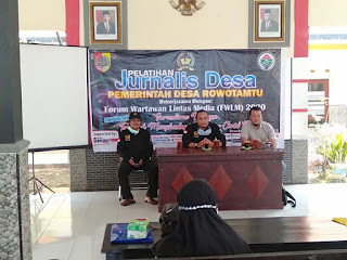 Tingkatkan SDM KarangTaruna Desa Rowotamtu Gelar Pelatihan Jurnalistik