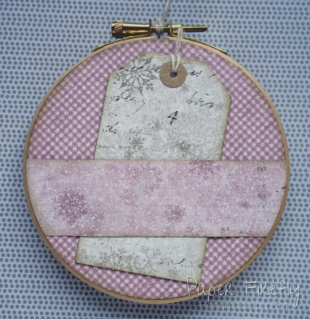 Baby's first Christmas keepsake embroidery hoop with teddy bear (image from LOTV)