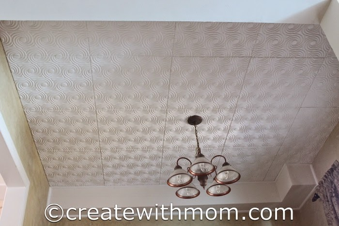 Create With Mom  DIY Ceiling Project with Fasade These tiles are perfect to create either a contemporary or traditional  design  Fasade ceiling tiles are available in most home hardware stores