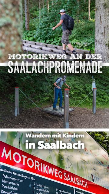Motorikweg an der Saalachpromenade  Wandern mit Kindern in Saalbach 22