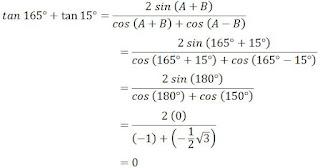 Contoh Soal Trigonometri Jumlah dan Selisih Dua Sudut
