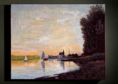 coucher de Soleil sur la Seine à Argenteuil