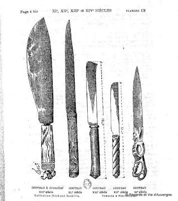 couteaux du 14 è siècle