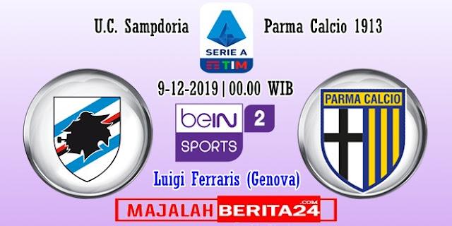 Prediksi Sampdoria vs Parma — 9 Desember 2019