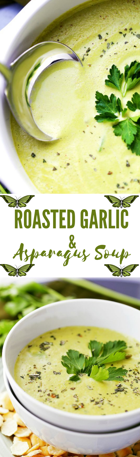 Roasted Garlic and Asparagus Soup #soup #asparagus #diet #keto #paleo