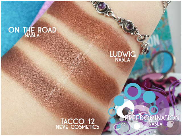 on the road comparazioni nabla cosmetics freedomination collection summer eyeshadow
