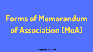forms of memorandum of association