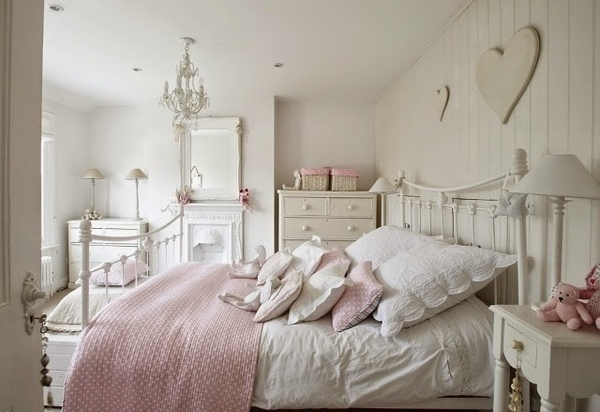 shabby-chic-bedroom-white-pink