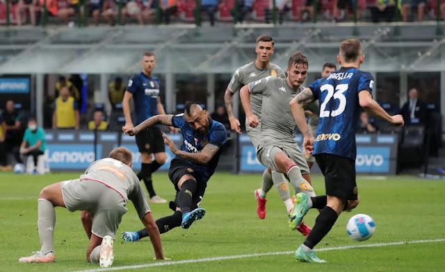 ملخص واهداف مباراة انتر ميلان وجنوي (4-0) الدوري الايطالي