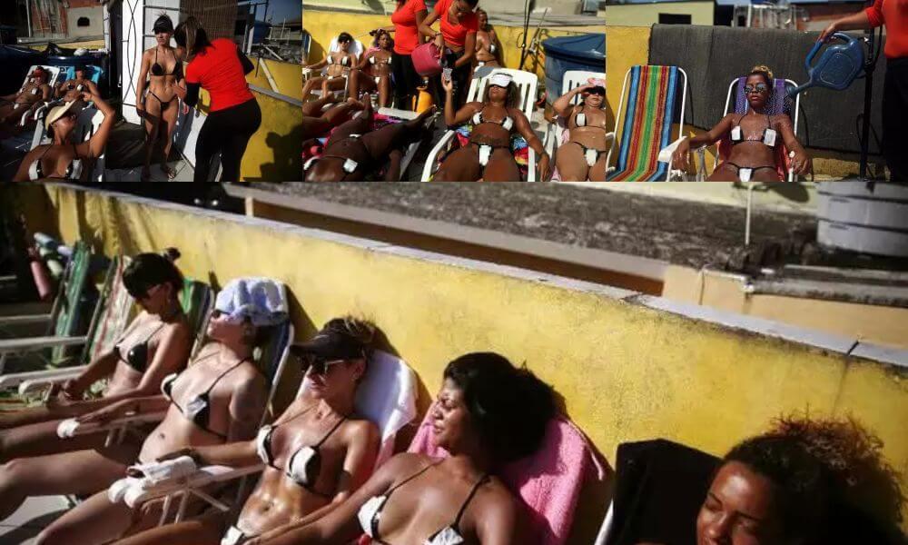 Tape Bikinis Models on Rooftop in Brazil - Moniedism