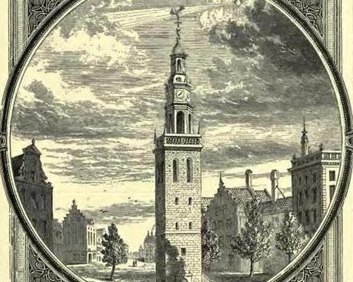 The tall tower of Virtue in the the city