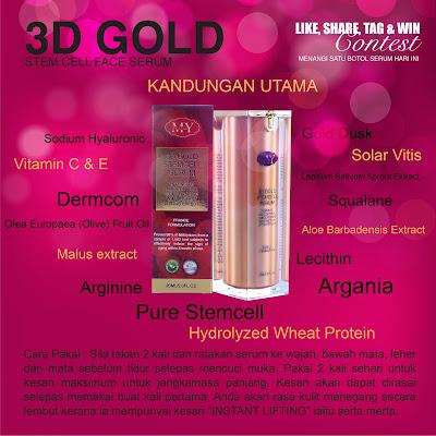 Jerawat Kurang Selepas Menggunakan 3D Gold Stemcel Serum