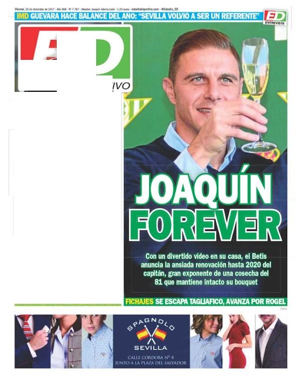 "Betis, Estadio Deportivo: ""Joaquín forever"""