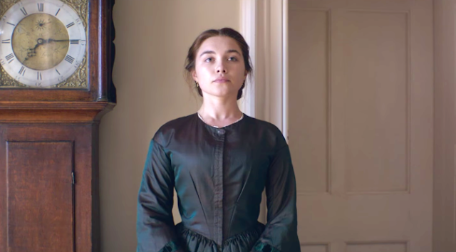 Katherine (Florence Pugh) dans The Young Lady (2017), réalisé par William Oldroyd