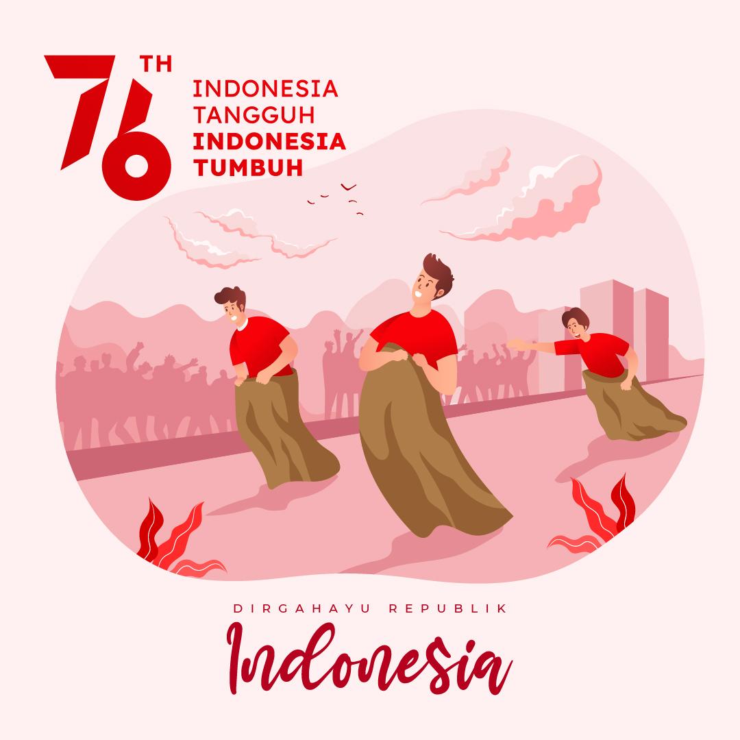 Poster Gambar Ucapan HUT RI Ke-76 | Dirgahayu Republik Indonesia