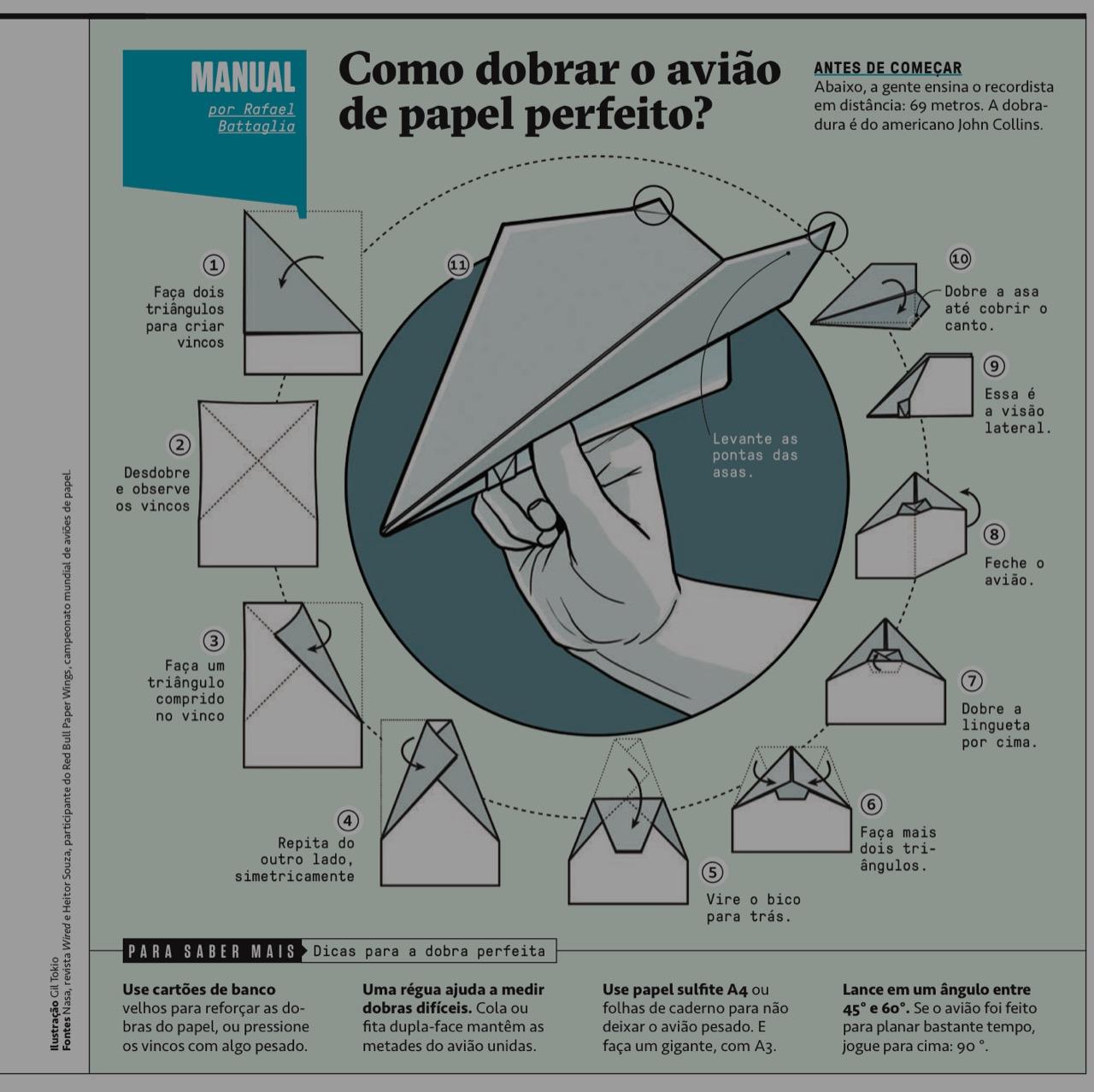 como dobrar o aviao de papel perfeito