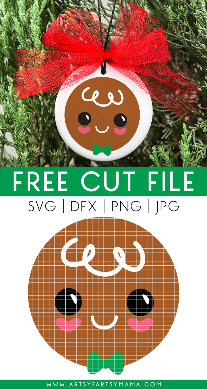 Gingerbread Ornaments with Free Cut Files
