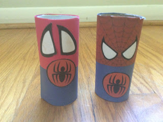 easy spiderman craft