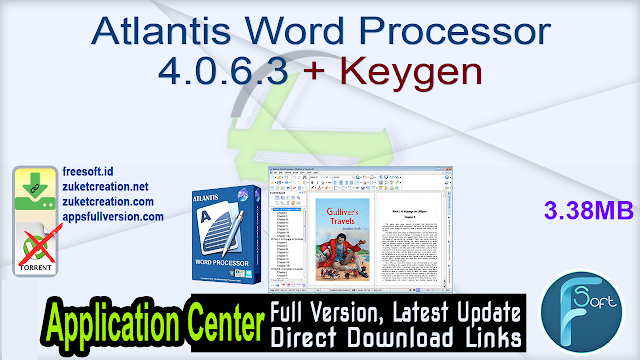 Atlantis Word Processor 4.0.6.3 + Keygen